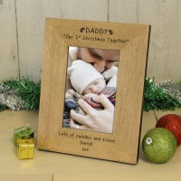 DADDY Our 1st Christmas Wood Frame 6x4