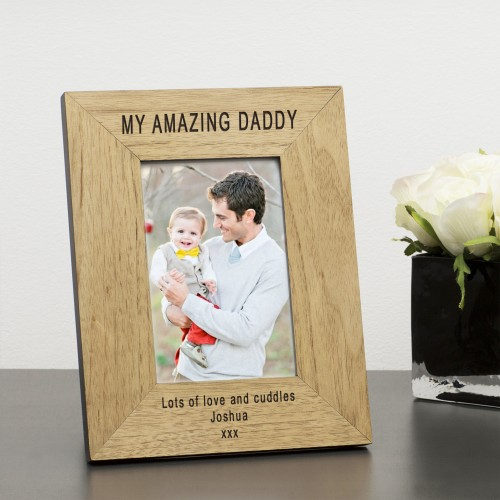 MY or OUR AMAZING DADDY Wood Photo Frame