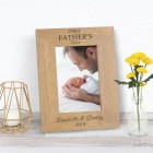 FIRST FATHERS DAY Wood Photo Frame