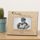 Daddy's first father's day Wood Photo Frame