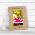 Best Daddy Ever Wood Photo Frame