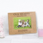OUR HEARTS BELONG TO DADDY Wood Photo Frame