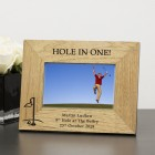 Personalised Hole In One! Engraved Wooden Photo Frame Gift 6x4 Golf Lovers Gift Celebrate a Hole In One
