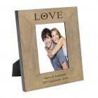 Love Wood Frame 6x4 Personalised Photo Frame
