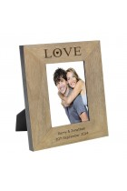 Love Wood Frame 6x4 Personalised Photo Frame