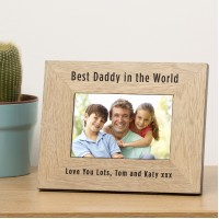 Best Daddy in the World Wood Photo Frame
