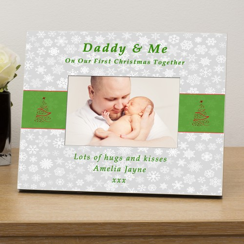 ..... & Me 1st Xmas together personalised photo frame