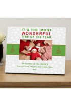 Its the most wonderful time personalised photo frame