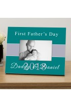 First Fathers Day Photo Frame Personalised Photo Frame