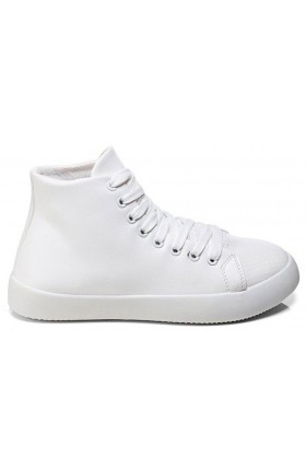 White Hi Top Trainers