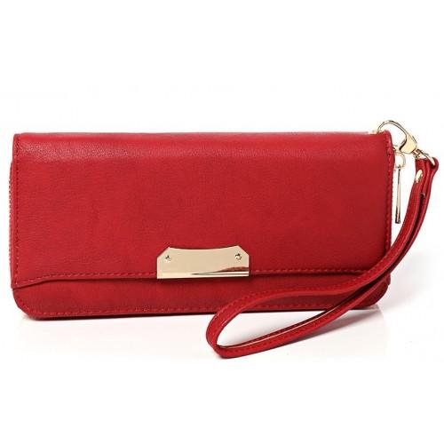 Zip Around Purse in Red