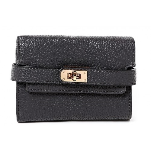 Buckle Detail Mini Purse in Grey