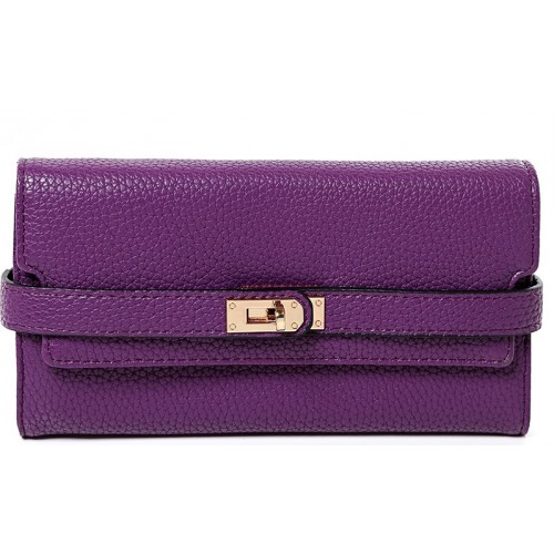 Buckle Detail Purse in Purple