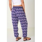 Navy Patterned Leisure Trousers