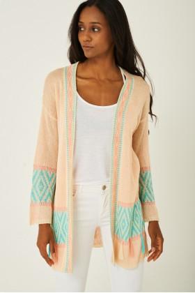 Knitted Tassel Detail Cardigan