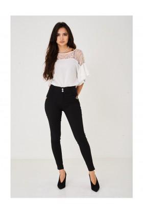 Black Skinny Leg Trousers