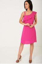 Pretty in Pink Ruffle Dress Plus Sizes