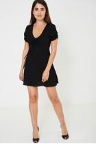 Short Sleeve Little Black Dress