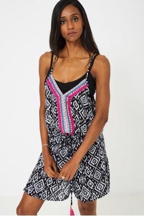 Drawstring Waist Cami Dress