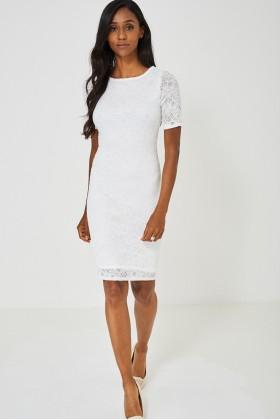 Bodycon Dress White Lace