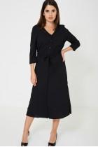 Black Slinky Feel Maxi Dress