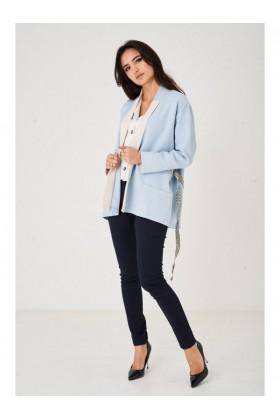 Longline Blazer in Light Blue