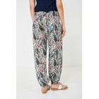 Multi Coloured Floral Harem Trousers