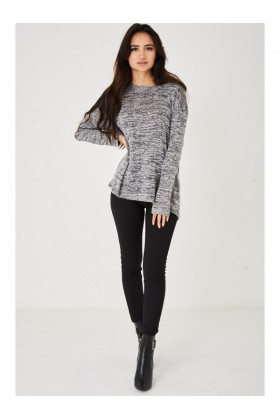 Ladies Oversized Grey Jumper