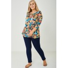 PLUS SIZE All Over Floral Top