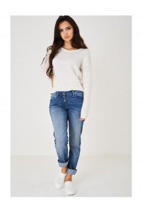 Ladies Blue Wash Skinny Jeans