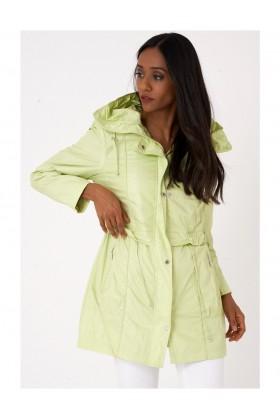Lightweight Green Jacket with Hoodie