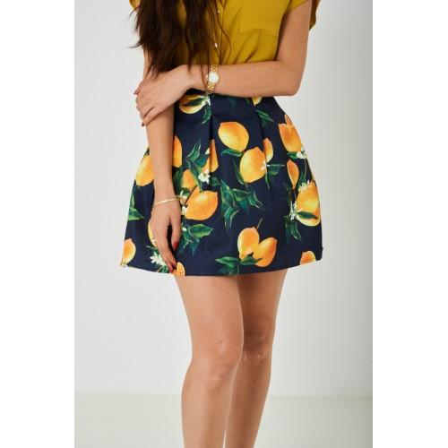 Skater Skirt in Lemon Print
