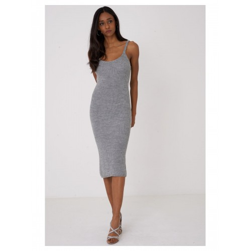 Knitted Cami Grey Dress