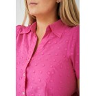 PLUS SIZE Pink Short Sleeve Shirt