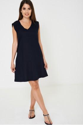 Navy Sleeveless Tunic Dress