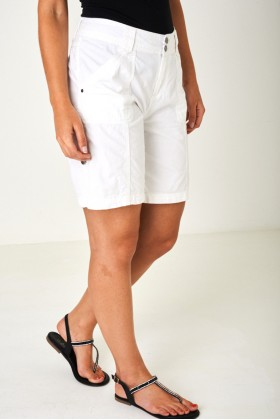 Lightweight City Shorts in Off White Plus Sizes