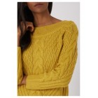 Yellow Jumper Chunky Cable Knit