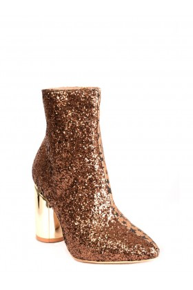 Two Faced Glitter Ankle Boots in Gold