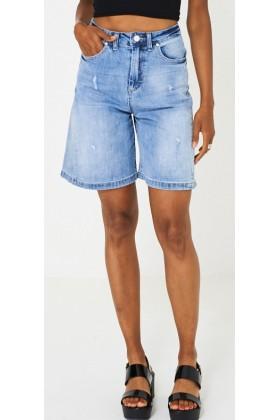 Culotte Blue Denim Shorts