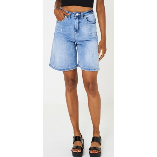 Culotte Blue Denim Shorts