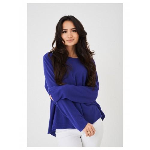 Women's Blue Oversized Jumper