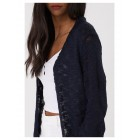 Navy Burnout Knit Cardigan