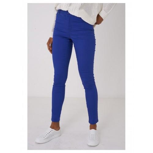 Blue Skinny Jeans Mid Rise Waist
