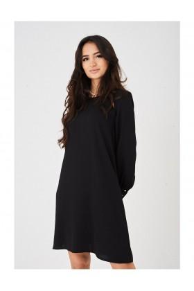 Black Cut Out Detail Chiffon Dress