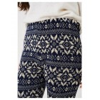 Ladies Knitted Leggings Multicoloured