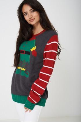 Novelty Christmas Elf Jumper Unisex