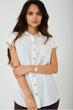 Longline Shirt in Off-White