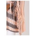 Pink Crochet Knit Poncho