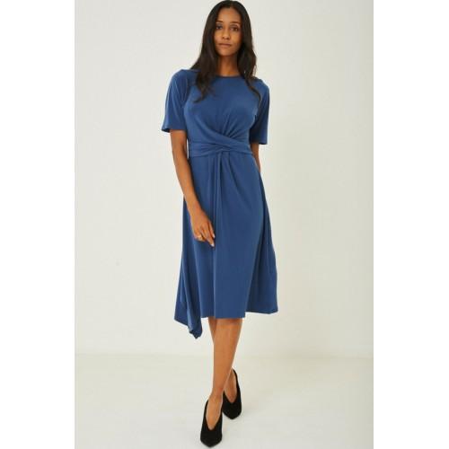 Slinky Blue Skater Dress