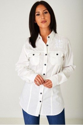 Longline Off-White Shirt